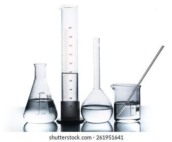 Lab, beaker, tube.