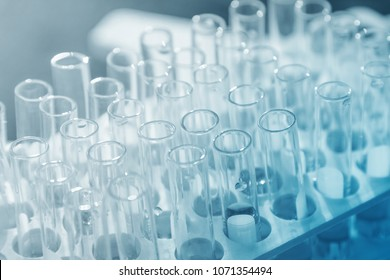 Lab science research glass items . A scientific experiment in a science research Laboratory.