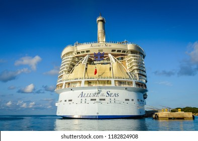 Labadee / Haiti - December 2, 2013: Allure of the Seas, one of the biggest cruise ships in the world and part of the Royal Caribbean fleet.