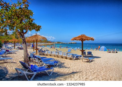 LABADEE, HAITI - February 4,, 2019: Labadee is a port located on the northern coast of Haiti. It is a private resort leased to Royal Caribbean for the use of passengers of its three cruise lines.