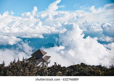 Laban Rata Resthouse Cloudy Sky