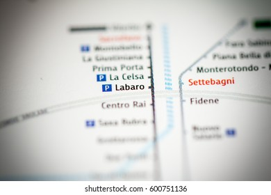 Labaro Station. Rome Metro map.