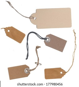 Label cardboard paper cord