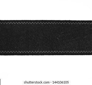 label fabric piece of cloth to stitch  isolated on white background