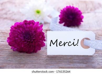 label thank you purple flowers green の写真素材 今すぐ編集