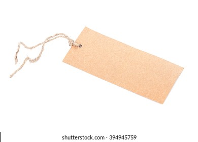 Label with a string isolated on white background.