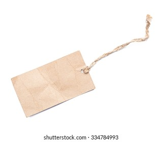 label tag isolated on white background.