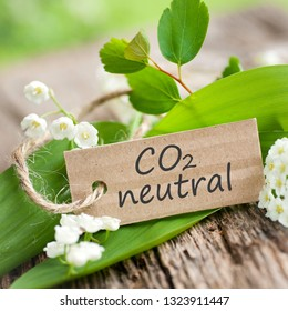 Label with text: CO2 Neutral