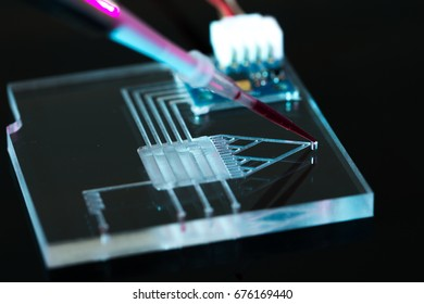 A lab-on-a-chip (LOC) is integration device with several laboratory functions