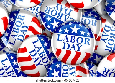 Labor day button background - 3d render