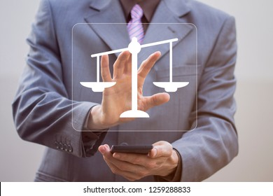 Labor Law Lawyer Legal Business justice Internet Technology Concept.