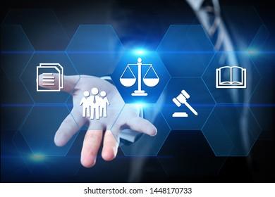 Labor Law Lawyer Legal Business Internet Technology Concept