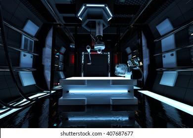 laboratory 3d illustration