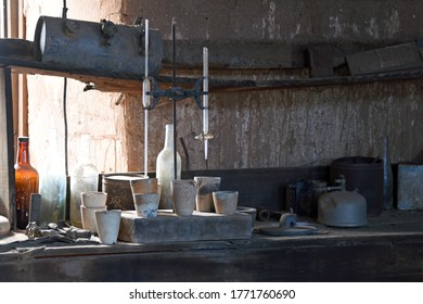Laboratory of the assaying office in Vulture city, Arizona
