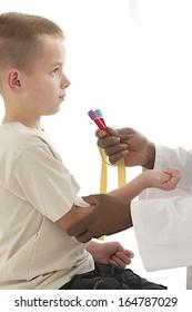 Laboratory blood sample on kids