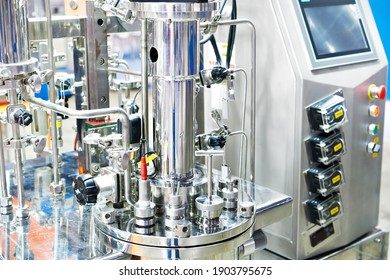 Laboratory chemical metal bioreactor and fermenter on exhibition