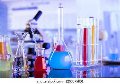 Laboratory concept background. Science experiment.