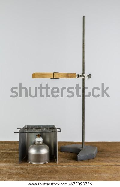 Laboratory Equipment Test Tube Holder Clamps Stock Photo