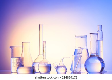 Laboratory glass for chemistry or medicine for research still life