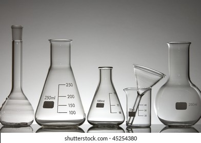 laboratory glass material on a white background