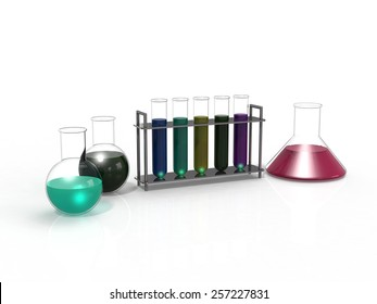laboratory glassware equipment ready for an experiment
