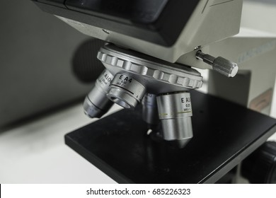 Laboratory Microscope in research use for microscopic examinations