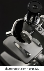 laboratory microscope - top view