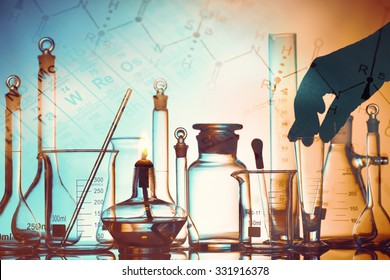 Laboratory research in science and medical setting.