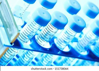 Laboratory test tube. Scientific research background.