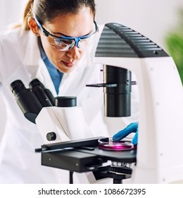 Laboratory work, woman only