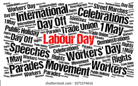 Labour day 1st may illustration