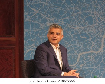 The Labour's party's candidate for Mayor of London, Sadiq Khan, speaking at the Centre for London conference in November 2015