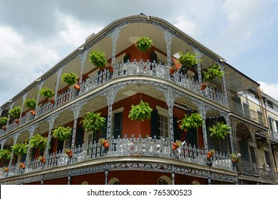 LaBranche House on 700 Royal Street in French Quarter in New Orleans, Louisiana, USA. This building, built in 1835, is one of the most famous building on Royal Street.