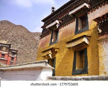 Labrang Tibetan Monastery and Mountain View