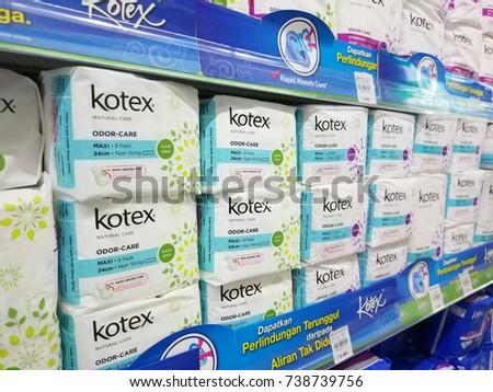 Labuan Malaysia September 2017 Boxes Kotex Stock Photo Edit Now