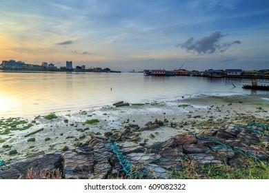 Labuan, Malaysia. The views of the sea looks beautiful