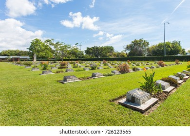 Labuan Sabah Malaysia -Sept 01 2017 : Labuan War Cemetery is a Commonwealth World War II graveyard. Many of the personnel buried in this cemetery were killed during the Japanese invasion of Borneo on 1945.