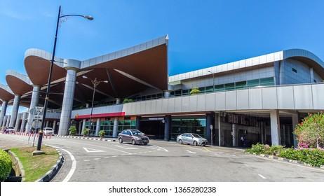 Labuan,Malaysia-Apr 4,2019:View of building of Labuan Airport in Labuan,Malaysia.It is an airport that serves the federal territory of Labuan in Malaysia.