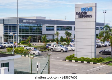 Labuan,Malaysia-Apr 5,2017:Baker Hughes oil & gas company office in Labuan,Malaysia.Baker Hughes is an American industrial service company,it is one of the world's largest oil field services companies