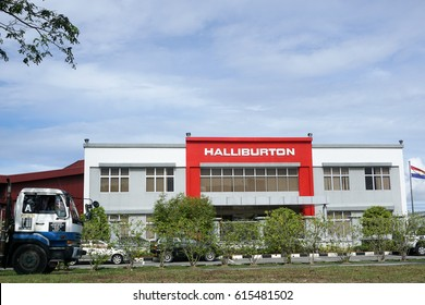 Labuan,Malaysia-Apr 5,2017:Halliburton international oil & gas company office in Labuan,Malaysia.Halliburton is one of the world's largest providers of products and services to the energy industry.