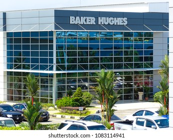 Labuan,Malaysia-Apr 5,2017:View of Baker Hughes oil & gas building office located in Labuan,Malaysia.It is an American industrial service company & largest oil field services companies.