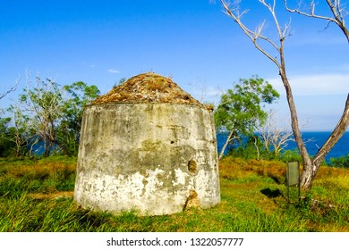 Labuan,Malaysia-Feb 24,2019:View of the second world war bunker in Tanjung Kubong,Labuan,Malaysia.Its known as storage area for artillery & explosives by the Japanese arm during World War 2.