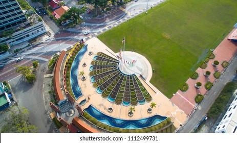 Labuan,Malaysia-June 14,2018:View of Labuan Square also known as Dataran Labuan in Labuan Pearl of Borneo,Malaysia.One of the attraction places in Labuan island.