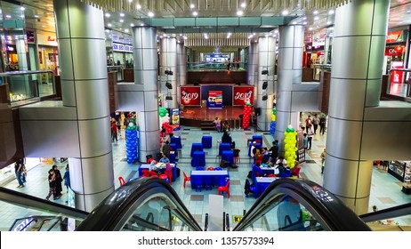 Labuan,Malaysia-Mac 23,2019:View of centre mall hall of Labuan Financial Park Complex in Labuan,Malaysia.Financial Park Shopping Mall draws large number of locals as well as tourist.