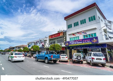 Labuan,Malaysia-Oct 9,2016:Duty free shop in Labuan Island Malaysia.The cheap,duty free products like alcohol & cigarettes are among the main attractions of the island & will remain a duty-free island