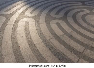 labyrinth drawn on the floor