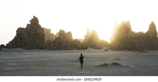 Lac Abbe, Djibouti / Djibouti - 2018-12: Lac Abbe Djibouti desert lowest point on earth