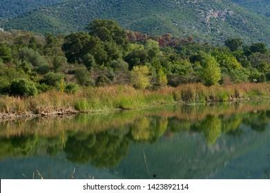 The Lac de Padula.  Lake in the north of Corsica