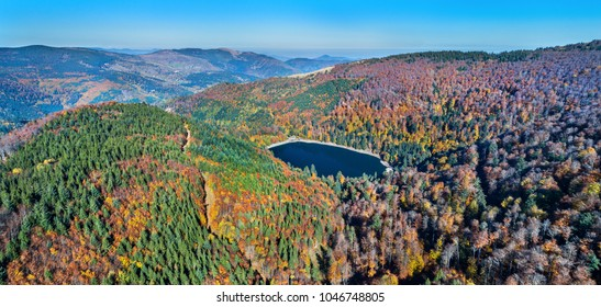 Lac du Ballon, a lake in the Vosges mountains - Alsace, France