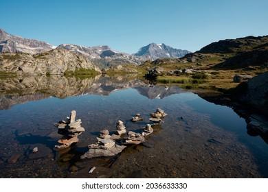Lac du bellecombe, Savoie, France